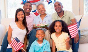 семья США
